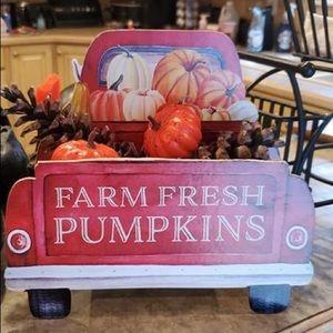 Farmhouse Farm fresh Pumpkins Truck Table Decor